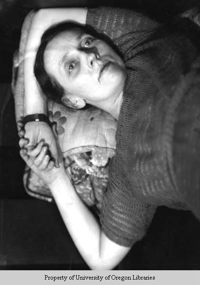 Sarah Blonding, Dean of Women, University of Kentucky, reclining, Lexington, Kentucky, n.d., Doris Ulmann Collection, PH038-03-0341, Doris Ulmann (1882-1934) photographs, 1920s-1934