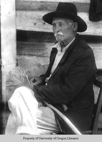 Isaac Davis, broom maker, Berea, Kentucky, n.d., Doris Ulmann Collection, PH038-07-0758, Doris Ulmann (1882-1934) photographs, 1920s-1934