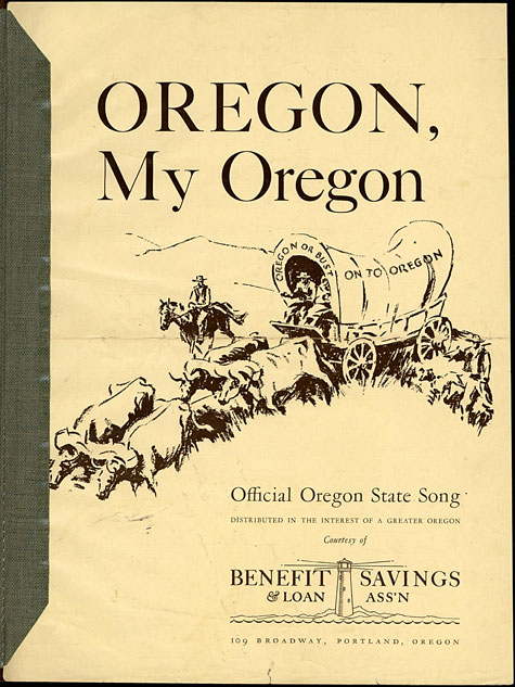 Oregon, my Oregon: official Oregon State song, Historic Sheet Music Collection