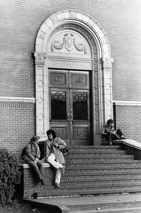 Chapman Hall entrance, UO Archives Photographs