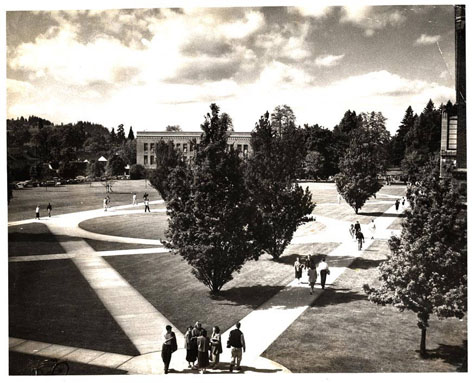 Memorial Quad - 3, UO Archives Photographs