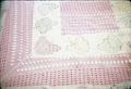 Double bed crocheted bedspread made by Marie Smith in 1930s, 98 x 109 inches approximately