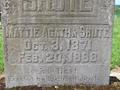 Mattie Shute Headstone, West Union Baptist Church (Hillsboro, Oregon)