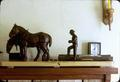 'Percherons at Rest', completed in about 1976, black walnut, 58 x 13 inches