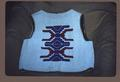 Beaded vest, rear view